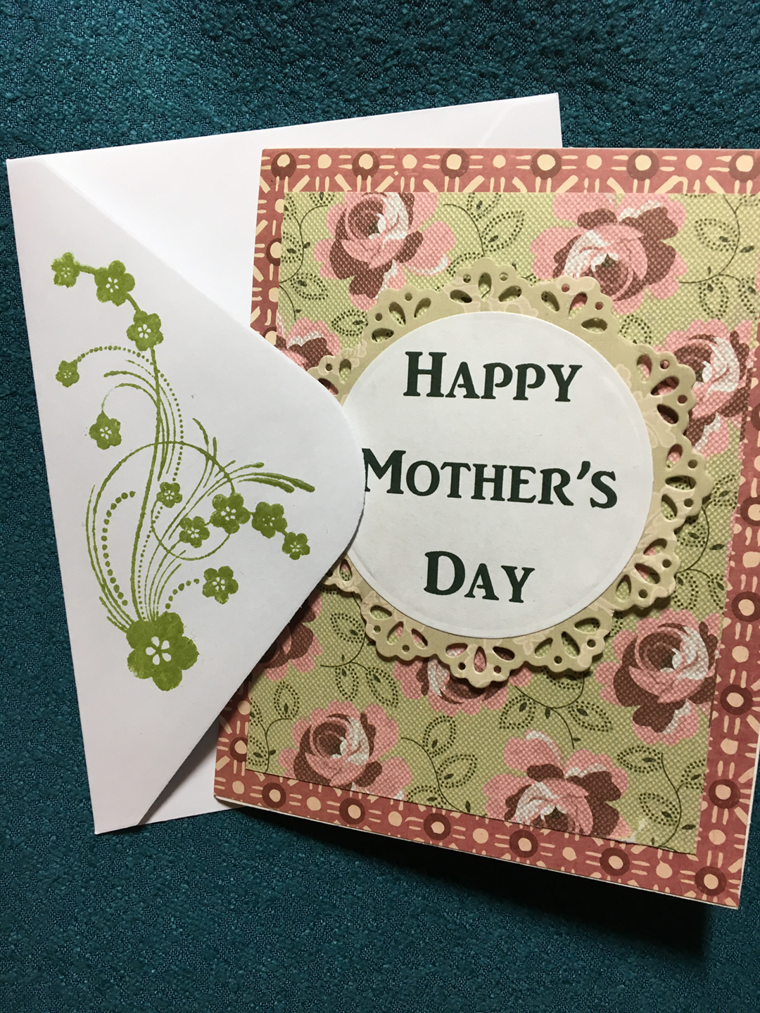 Envelope Mothers Day card