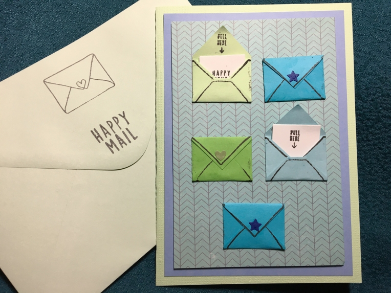 happy Mail card envelop 1