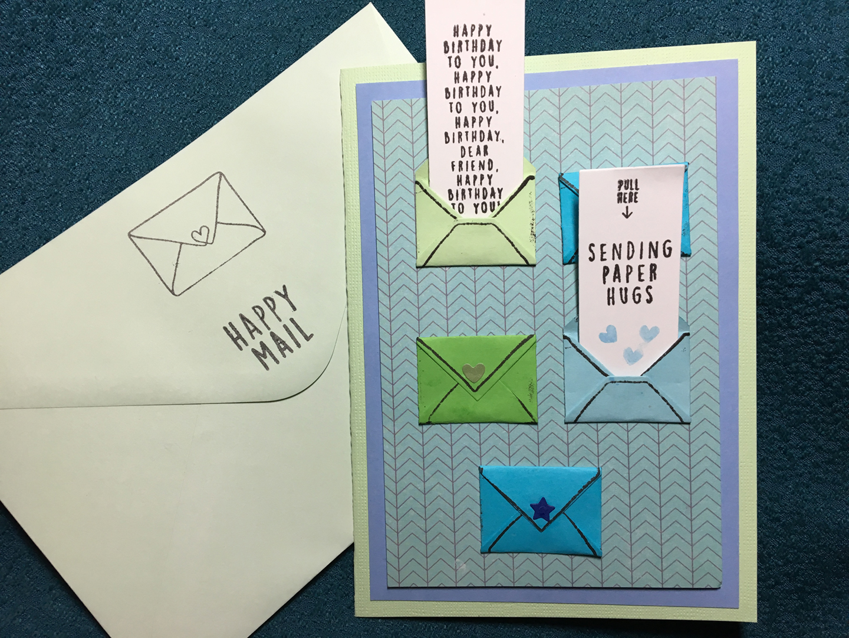happy Mail card envelop 2