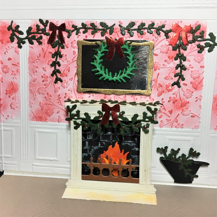 1 fireplace decorated