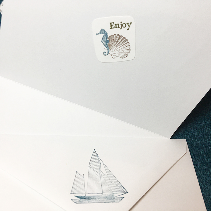 Seaside vacation -inside-envelope