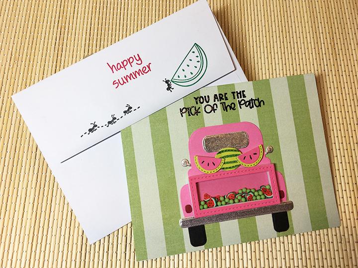 Watermelon Truck -card envelope